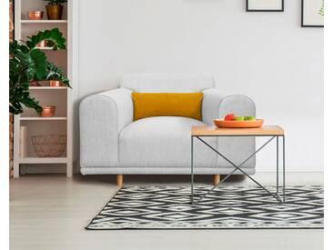 andas Sessel/Loveseat »Maroon« in skandinavischem Design, mit losem Kissen, grau, grau