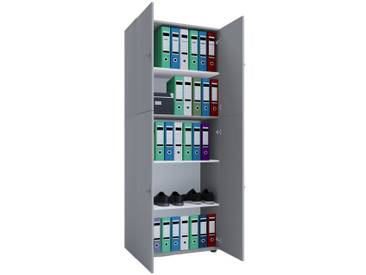 VCM Büroschrank mit Drehtüren Lona, grau, Grau