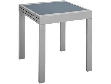 MERXX Gartentisch »Lima«, Aluminium, ausziehbar, 130x65 cm, silberfarben, 65-130 cm x 65 cm, silberfarben