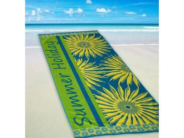 Dyckhoff Strandtuch »Summer Holiday«, mit Sonnenmotiven, grün, Walkfrottee, grün
