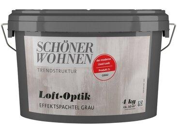 SCHÖNER WOHNEN-Kollektion SCHÖNER WOHNEN FARBE Spachtelmasse »Loft-Optik Effektspachtel grau«, 4 kg, grau, grau