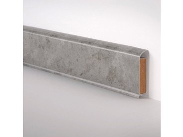 Bodenmeister BODENMEISTER Sockelleiste »EP-60/13«, im praktischen 2er-Pack, Höhe 6 cm, grau, grau