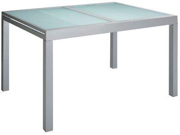 MERXX Gartentisch »Lima«, Aluminium, ausziehbar, silber, silberfarben, 120-180 cm x 90 cm, silberfarben