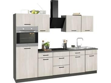 wiho Küchen Küchenzeile »Esbo«, ohne E-Geräte, Breite 280 cm, natur, Wilton Oak