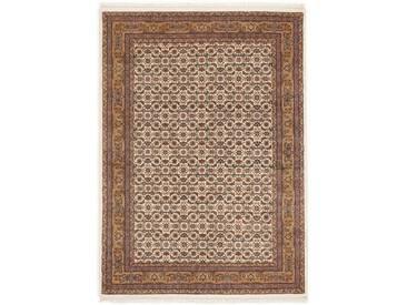 OCI DIE TEPPICHMARKE Wollteppich »Himla Herati«, rechteckig, Höhe 20 mm, handgeknüpft, rot, 20 mm, creme-beige