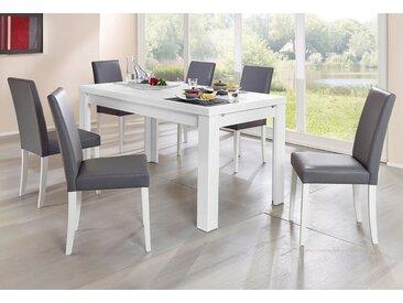 Tisch, weiß, mit Auszug, Breite 140 cm, weiß