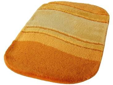 Kleine Wolke Badematte »Siesta« , Höhe 25 mm, rutschhemmend beschichtet, fußbodenheizungsgeeignet, gelb, 25 mm, safran