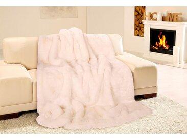 Gözze Wohndecke »Eisbär«, in Felloptik, weiß, Kunstfaser, weiß