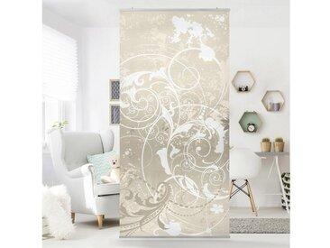 Bilderwelten Raumteiler 250x120cm »Top Raumtrenner«, bunt, Motiv: Perlmutt Ornament Design, transparente Halterung, Farbig