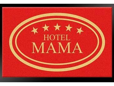 HANSE Home Fußmatte »Hotel Mama - 5 Sterne«, rechteckig, Höhe 8 mm, rot, 8 mm, rot