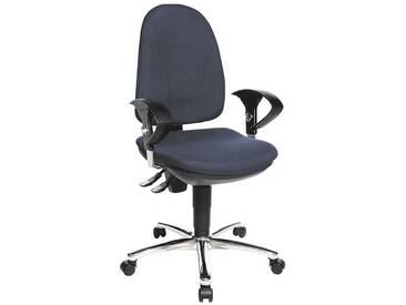 TOPSTAR Bürostuhl mit Armlehnen »Point 30«, blau, dunkelblau