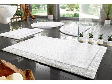 Home affaire Badematte »Kapra« , Höhe 10 mm, beidseitig nutzbar, Bio Baumwolle, weiß, 10 mm, weiß