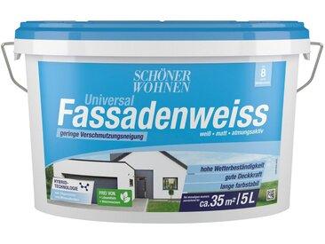 SCHÖNER WOHNEN-Kollektion SCHÖNER WOHNEN FARBE Fassadenweiss »Universal-Fassadenweiss 5,0L «, hoch wasserdampfdurchlässig und wetterbeständig, weiß