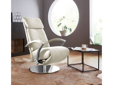 W.SCHILLIG Relaxsessel »kronos« mit Drehteller, weiß, weiß Z59