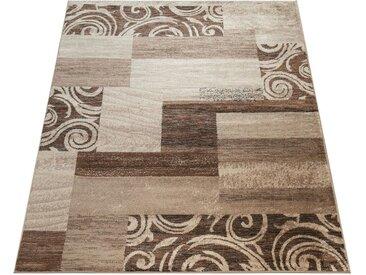 Paco Home Teppich »Sinai 053«, rechteckig, Höhe 13 mm, karierter Kurzflor mit Ornamenten, braun, braun