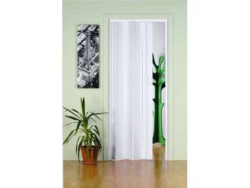 Kunststoff-Falttür »Monica«, BxH: 83x204 cm, Weiß ohne Fenster, weiß, 83 cm, weiß