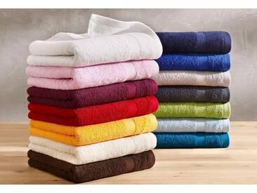 Dyckhoff Handtücher »Planet«, aus reiner Bio-Baumwolle (2 Stück oder 6 Stück), rot, Walkfrottee, beere