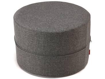INNOVATION™ Megahocker »Deconstructed«, als Sitzkissen oder Tisch nutzbar, Höhe: 40 cm, grau, Maße (Ø/H): 62/40 cm, charcoal grey
