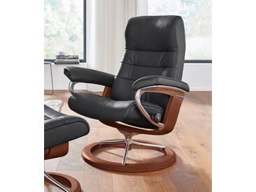 Stressless® Relaxsessel »Opal« mit Signature Base, Größe S, mit Schlaffunktion, schwarz, Fuß braun, black