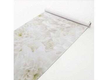Bilderwelten Klebefolie Holz - Dahlien Blumenmeer weiß - Holzdekorfolie »Dahlien Blumenmeer weiß«, weiß, Weiß
