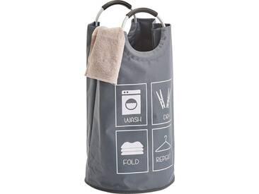 Zeller Present Zeller Wäschesammler m. Griffen, grau, Maße(H/Ø):(72/36), grau