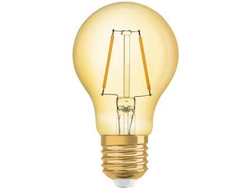 Osram LED-Lampe, Vintage-Edition, Kolbenform »Vintage 1906 LED 12 1.4 W/825 E27 GOLD«, goldfarben, gold