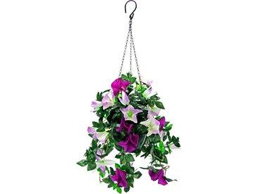 Kunstpflanze »Hängeampel Petunien«