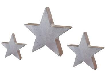 Creativ deco Stern SET, 3tlg, silberfarben, silber