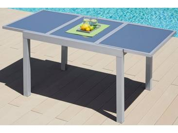 MERXX Gartentisch »Amalfi«, Aluminium, ausziehbar, grau, 120/180 cm x 90 cm, hellgrau