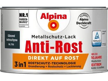 Alpina ALPINA Metallschutzlack »Anti-Rost - Glänzend Anthrazitgrau«, 3 in1, 300 ml, grau, grau