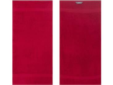 Egeria Handtücher »Diamant«, in Uni gehalten, rot, Frotteevelours, dunkelrot