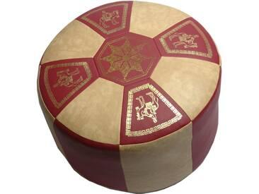 Home affaire Sitzkissen im orientalischen Design, rot, rot/beige