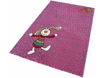 Sigikid Kinderteppich »Rainbow Rabbit«, rechteckig, Höhe 13 mm, rosa, 13 mm, pink