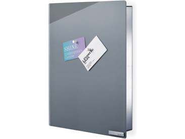 BLOMUS Schlüsselkasten (VELIO), Glasmagnettafel, Inkl 6 Magnete, grau, 30x5x40 cm, grau