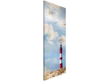 Bilderwelten Magnettafel Hoch 78cm x 37cm »Leuchtturm in den Dünen«, bunt, 78x37 cm, Farbig