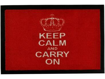 HANSE Home Fußmatte »Keep Calm«, rechteckig, Höhe 7 mm, rechteckig, rot, 7 mm, rot
