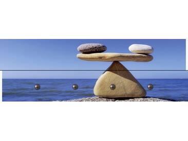 Artland Wandgarderobe »Styf: Gleichgewicht - Steine Meer«, blau, 30 x 90 x 2,8 cm, Blau