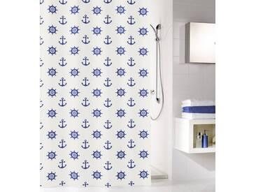 MEUSCH KLEINE WOLKE Duschvorhang »Sailor«, weiß, weiß/blau