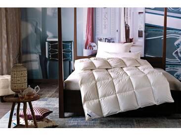 billerbeck Daunenbettdecke, »Eliana 90 Kassette II«, warm, Füllung: 90% Daunen, 10% Federn, (1-tlg), weiß, First Class