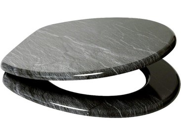Sanilo SANILO WC-Sitz »Granit«, mit Absenkautomatik, schwarz, schwarz/grau