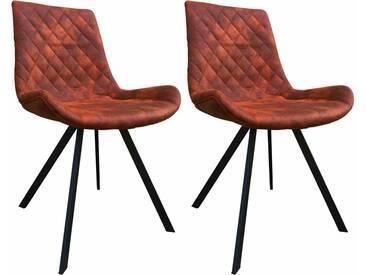 SIT Stuhl »2488« in Vintage-Optik (2er Set), braun, braun