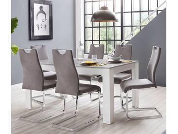 Steinhoff »Zabona« Essgruppe (1 Tisch + 4 Stühle), Grau, Grau