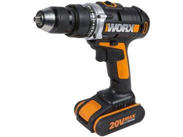 Worx WORX Akku-Schlagbohrschrauber »WX372.1«, 20V, schwarz, 1 Akku, schwarz