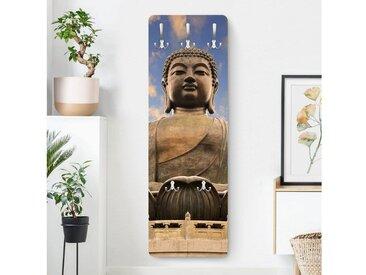 Bilderwelten Wandgarderobe »Großer Buddha«, bunt, 139x46 cm, Farbig