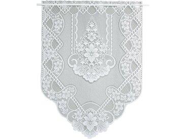VHG Scheibengardine »Ronda«, Stangendurchzug (1 Stück), weiß, Stangendurchzug, halbtransparent, weiß