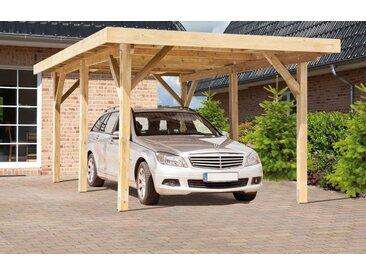 Kiehn-Holz Einzelcarport »KH 101«, BxT: 340x510 cm, mit Alu-Dach, grün, 395 cm, grün
