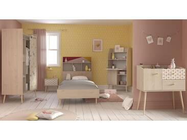 Parisot Jugendzimmer-Set »Anna« (5-tlg.), natur, Struktureichefarben hell