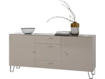 LEONARDO living Sideboard »CUBE« auf Designfüßen, mit 2 Türen und 3 Schubladen, Breite 189 cm, natur, palazzo
