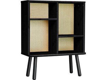 Karup Design Regal »Kyabi«, Vierbeiniger Schrank mit zwei verstellbaren Regalen und einem Tatami-Look auf der Rückseite, schwarz, Schawrz