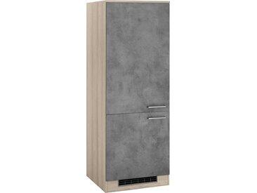 wiho Küchen WIHO Küchen Kühlumbauschrank »Zell«, grau, beton/satin eichefarben